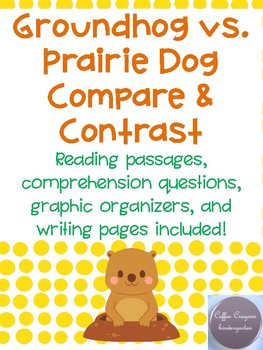 Groundhog vs. Prairie Dog Compare and Contrast- Groundhog Day!