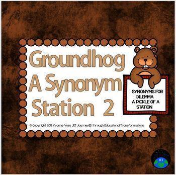 Groundhog Synonym Station 2