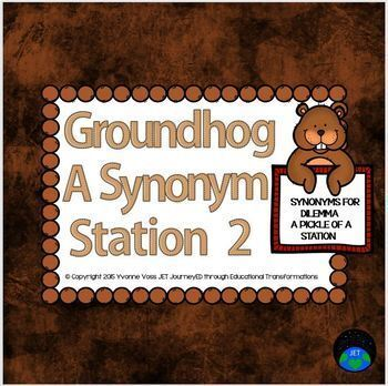 Groundhog Synonym Station 2