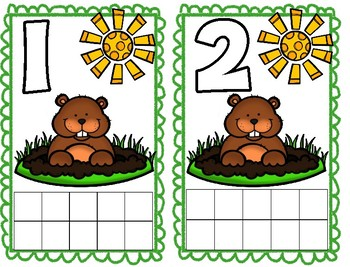 Groundhog Ten Frame Math Cards