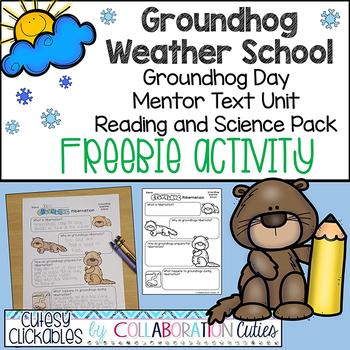 Groundhog Weather School Freebie Activity {Groundhog Day Hibernation}
