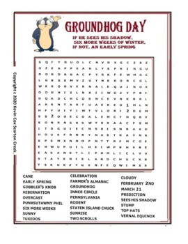 graphic relating to Groundhog Day Word Search Printable titled Groundhog Working day Term Appear Worksheets Coaching Materials TpT