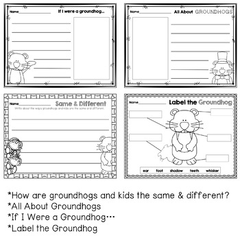 Groundhog Writing