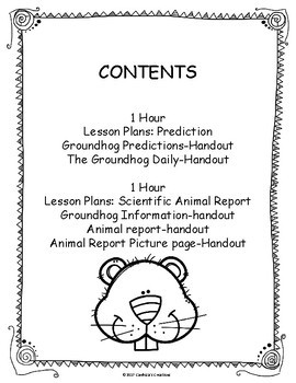 Groundhog Writing Lessons
