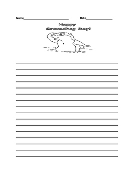 Groundhog Writing Sheet and Circle Map