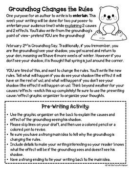 Groundhog Writing and Craftivity Set