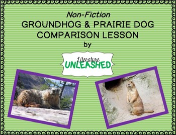 Groundhog and Prairie Dog Comparison Lesson