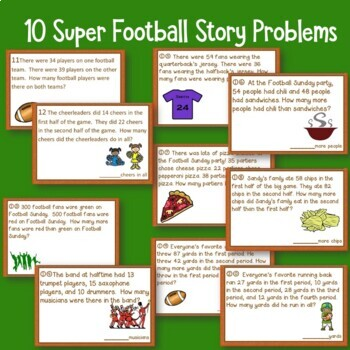 Groundhog and Super Football Math Story Problems