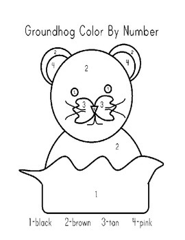 Groundhog color by number