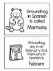 Groundhog day ~ El día de la marmota activity flip book