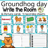 Groundhog day Write the Room (in color and black/white)