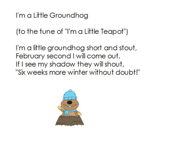 Groundhog  day for first grade