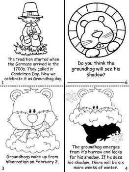Groundhog day mini book/ Dia de la marmota bilingual book