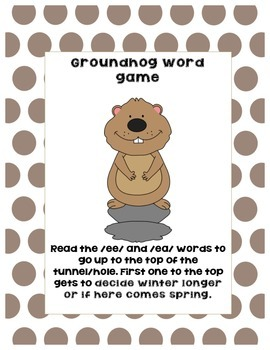 Groundhog /ee/ and /ea/ words