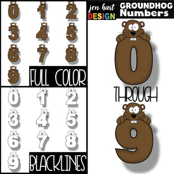 Groundhog's Day Clip Art - Groundhog Numbers {jen hart Clip Art}
