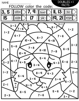 Groundhog Day Color by Number Addition Facts | Groundhog Day Activities