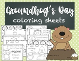Groundhog's Day Coloring Sheets