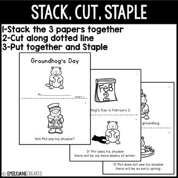 Groundhog's Day Emergent Reader