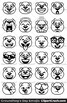 Groundhog's Day Emoji Clipart Faces / Cute Groundhog Emojis Emotions Expressions