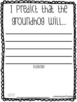 Groundhog's Day Groundhog Craftivity