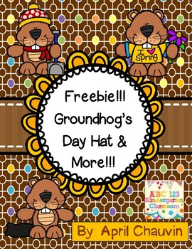 Groundhog's Day Hat , Color Sheet, and More Freebie!!!