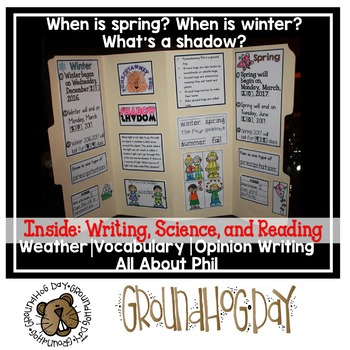 Groundhog's Day Lap Book {Science, Reading, Writing}