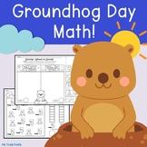 Groundhog Day Math (Kindergarten, Groundhog Day Activities, February Activities)