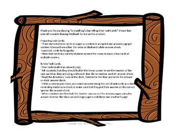 Groundhog's Day Math Telling Time (to hour & half hour) Task Card