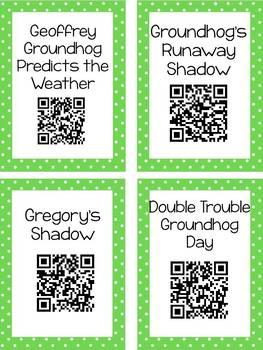 Groundhog's Day QR Code Read Aloud Listening Centers
