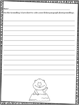 Groundhog's Day Reading Comprehension Passages and Writing Prompts