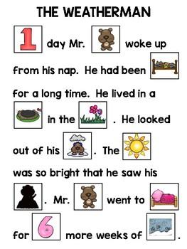 Groundhog's Day Rebus Story