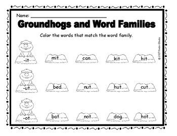 Groundhog's Day Review Sheets - FREEBIE!!!!