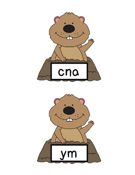 Groundhog's Day Scrambled Sight Words