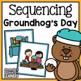 Groundhog's Day Sequencing Cards and Writing Activity