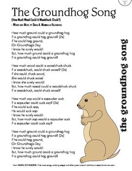 Groundhog's Day Song Lyric Sheet