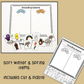Groundhog's Day Spring and Winter Sort