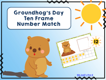 Groundhog's Day Ten Frame Number Match