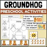 Groundhog's Day Themed Centers and Activities for PreK and Kindergarten