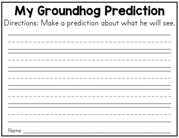 Groundhog's Day Vocabulary Cards and Worksheets