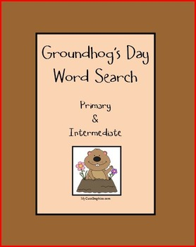 Groundhog's Day Word Search - Primary & Intermediate