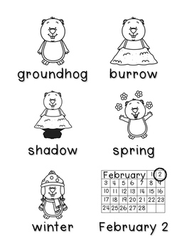 Groundhog Day -Write the Room & Writing Prompts {Print on Cardstock or Post Its}