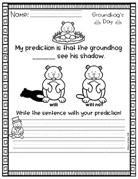 Groundhog's Day Writing