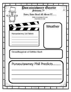 Groundhog's Day Writing Activites
