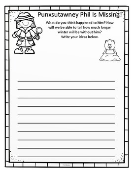 Groundhog's Day Writing Activites