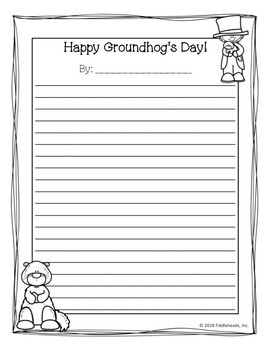 Groundhog's Day Writing Activities Prompts, Organizers, Rubrics & Poems