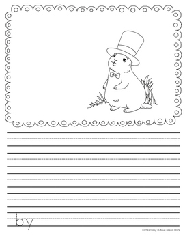 Picture Writing Prompts for Groundhog's Day