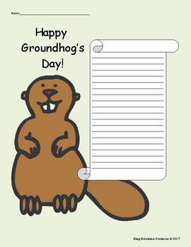 Groundhog's Day Writing Paper