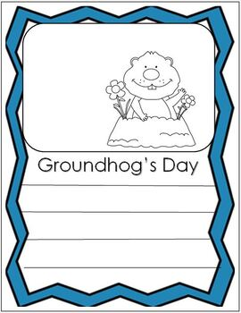 Groundhog's Day - groundhog writing