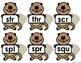 Groundhog's Triple Consonant Blend Puzzle Match