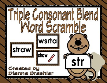 Groundhog's Triple Consonant Word Scramble